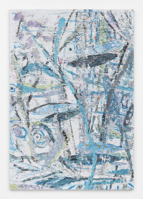 , 'Primitive Landscape (Curling Blue Branch),' 2015, Halsey McKay Gallery