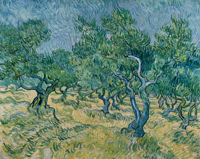 Vincent van Gogh, 'Olive grove', June 1889, Painting, Oil on canvas, Kröller-Müller Museum