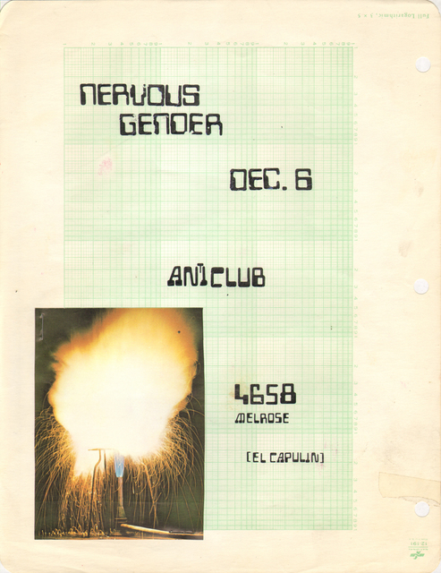 , 'Untitled Nervous Gender Gig Flyer #25,' , Coagula Curatorial