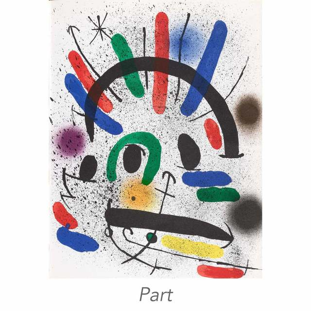 Joan Miró, 'Miró Lithographs I-IV (Mourlot 854; 857-867; 1036-1047; 1112-1117; 1255-1260; Cramer Books 160; 198; 230; 249)', 1972-81, Books and Portfolios, Set of four volumes of the catalogue raisonné for lithographs by the artist, with 32 lithographs, on wove paper, Doyle