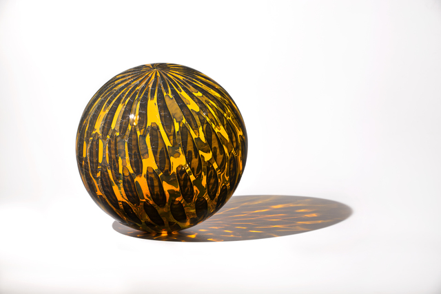, 'Amber Shimmer Orb,' 2018, Duane Reed Gallery