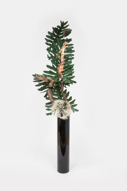 Kandis Williams, 'Semba Kizomba Candombe Cayenge, Cordoba: dance notation on cascading selloum philodendron arrangement', 2020, Sculpture, Collage on artificial plant, Night Gallery