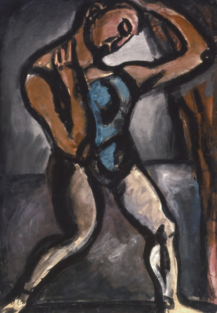 Georges Rouault, 'Le Lutteur, no. 3 (The Wrestler, No. 3; also called Acrobat XV)', 1913, ARS/Art Resource