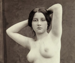 Nude Study with Arms Raised