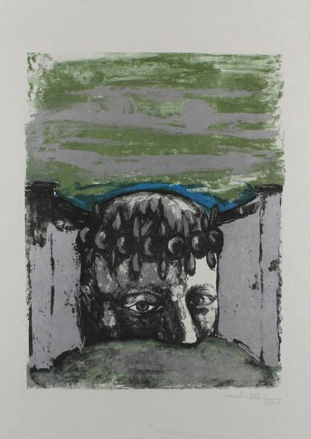 Sergio Vacchi, 'Selbstbildnis / Self-Portrait', 1965, Print, Color lithograph, Sylvan Cole Gallery