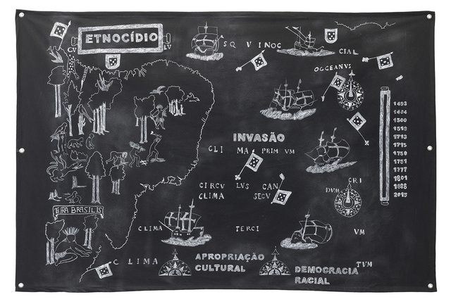 , 'Terra Brasilis: invasão, etnocídio e apropriação cultural,' 2015, Galeria Leme