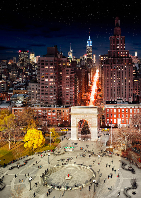 , 'Washington Square Park (Day to Night),' 2009, Holden Luntz Gallery