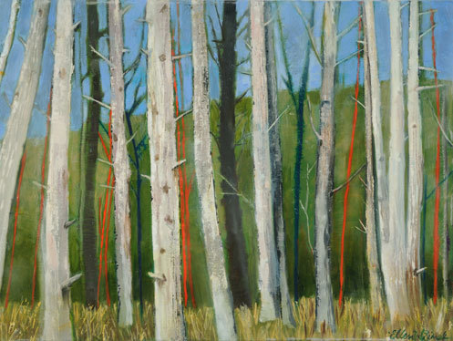 Ellen Sinel, 'Woods', 2013, Painting, Oil and encaustic on canvas, Zenith Gallery