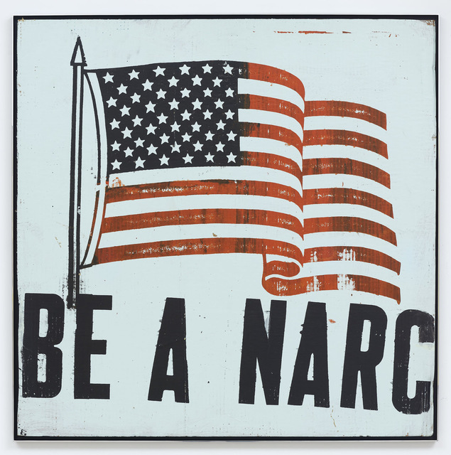 , 'Be A Narc Flag [Pale Green],' 1992, Karma
