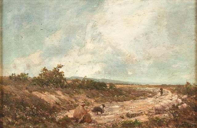 Vittorio Avondo, ' Mountain Landscape', 1870s, Wallector