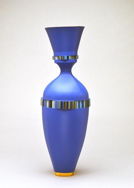 Peter Pincus, 'Delphinium Vase', 2019, Design/Decorative Art, Colored porcelain, gold luster, Ferrin Contemporary