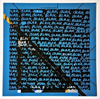 Mel Bochner, Blah, Blah, Blah (Blue) + Background Noise