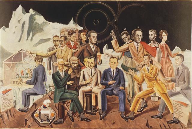 Max Ernst, 'Au rendez-vous des amis, 1922: Aragon, Breton, Baargeld, De Chirico, Eluard, Desnos, Soupault, Dostoyevsky, Paulhan, Perst, Arp, Ernst, Morise, Fraenkel, Raphael', 1922, ARS/Art Resource