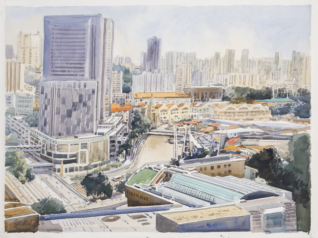 , 'West Bank, Singapore River,' 2014, Ode to Art