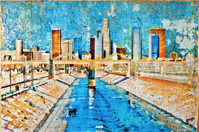 , 'LA Golden Bridge,' 2015, Impact Art Gallery