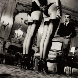 Two Pairs of Legs in Black Stockings, Paris
