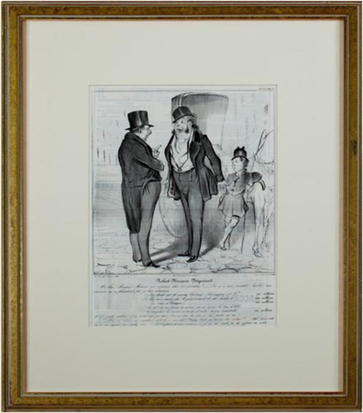 , 'Caricaturana (Plate No. 27) DL 381 Robert Macaire Negociant,' 1837, David Barnett Gallery
