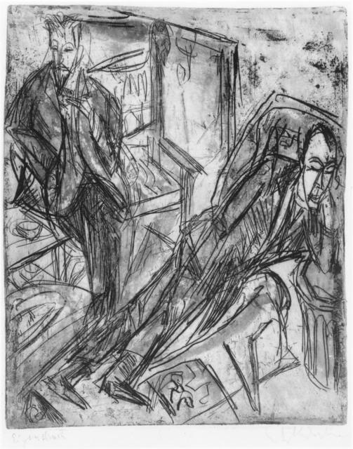 , 'Die Siesta-Botho Graef und Hugo Biallowons (The Siesta- Botho Graef and Hugo Biallowons),' 1914, Alice Adam Ltd.