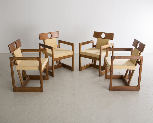 ", 'Set of Four ""Cuiabá"" Dining Chairs,' 1985, R & Company"