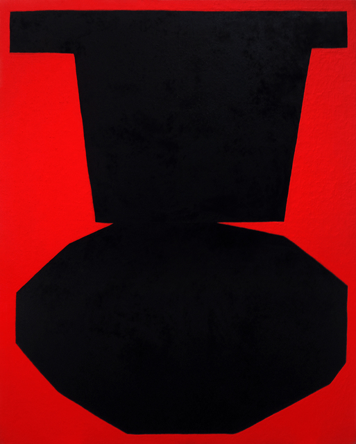 , 'Black on Red I,' 2017, Tappan