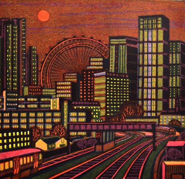 , 'A City Sunset,' 2019, Eames Fine Art