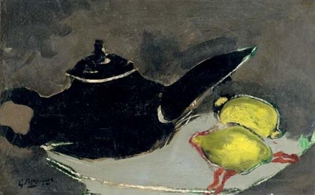 Georges Braque, 'Théière noir et deux citrons', 1948, Bernard Jacobson Gallery