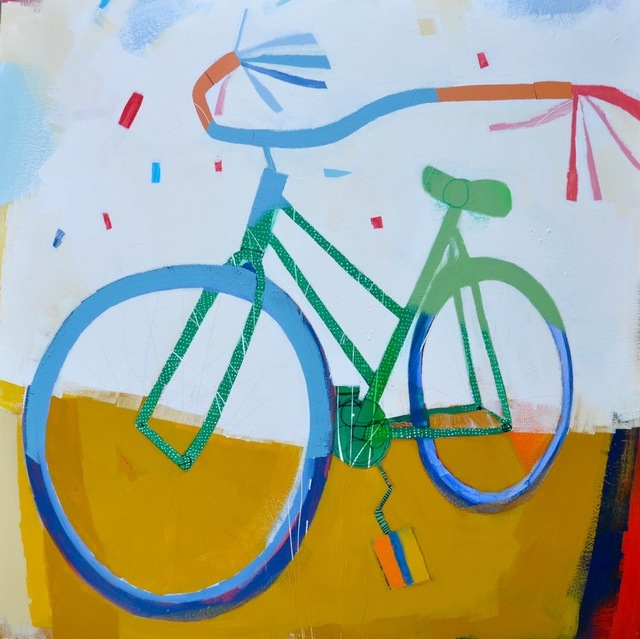 , 'Green Roadmaster,' 2018, M.A. Doran Gallery