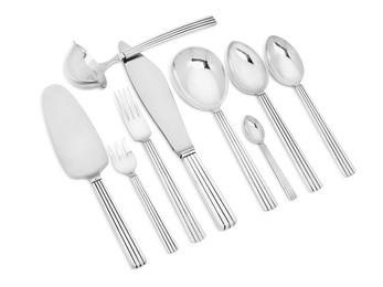 """""""Bernadotte"""". Sterling silver cutlery. (92)"""