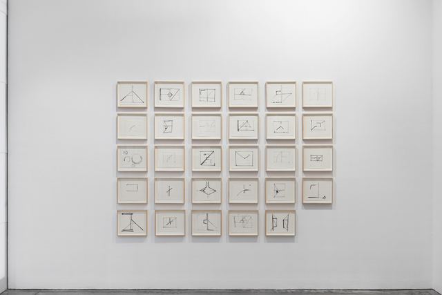 , 'Studies for cut drawings (notebook),' 1974, Galerie Thomas Schulte