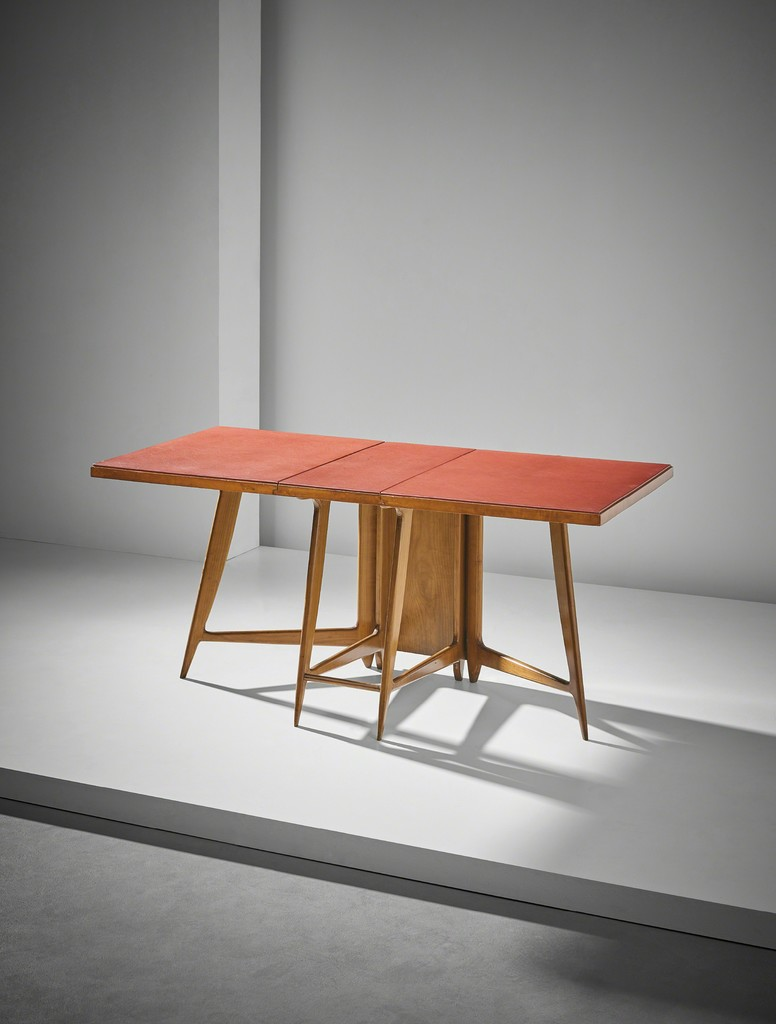 Unique folding table, designed for the Dulciora offices, Milan