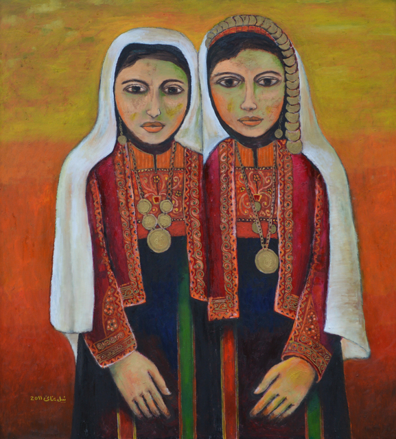, 'Palestinian Girls in Traditional Costume (1917),' 2011, Zawyeh Gallery