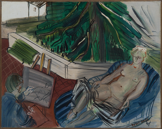 , 'Le peintre et son modèle sur la terrasse à Caldas de Montbuy,' Painted circa 1945, Hammer Galleries