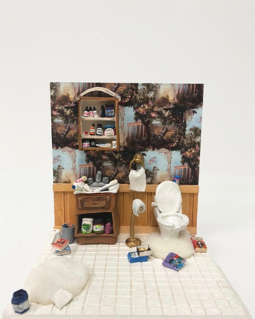 , 'Child's Dollhouse #infowars (Alex Jones' Bathroom),' 2018, Postmasters Gallery