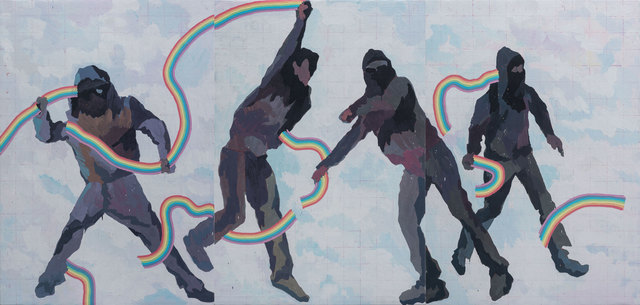 , 'People Throwing Out the Rainbows 《正在投出彩虹的人》,' 2015, Long March Space