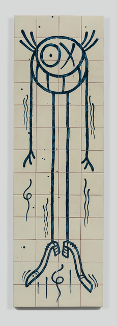 André Saraiva, 'Standing Mr. A 3', 2018, Mixed Media, Hand-painted tiles, Underdogs Gallery
