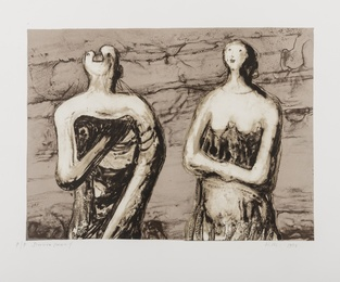 Henry Moore, 'Man and Woman Three-Quarters Figures (Cramer 490),' 1978, Forum Auctions: Editions and Works on Paper (March 2017)