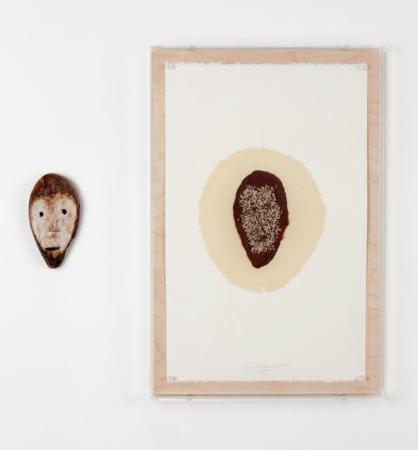 , 'd'après et après le masque à visage blanc,' 2014, Galerie Nathalie Obadia