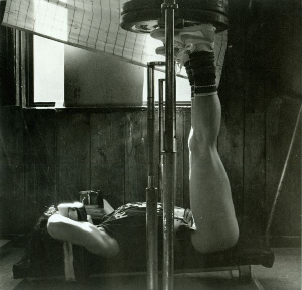 , 'Lisa Lyon doing leg press,' ca. 1981, Be-hold