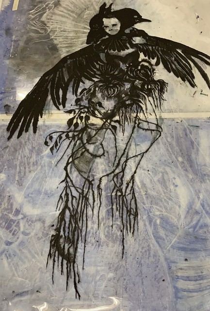 Christine Sefolosha, 'Flight', 2020, Drawing, Collage or other Work on Paper, Mixed media on Arches paper, Cavin-Morris Gallery