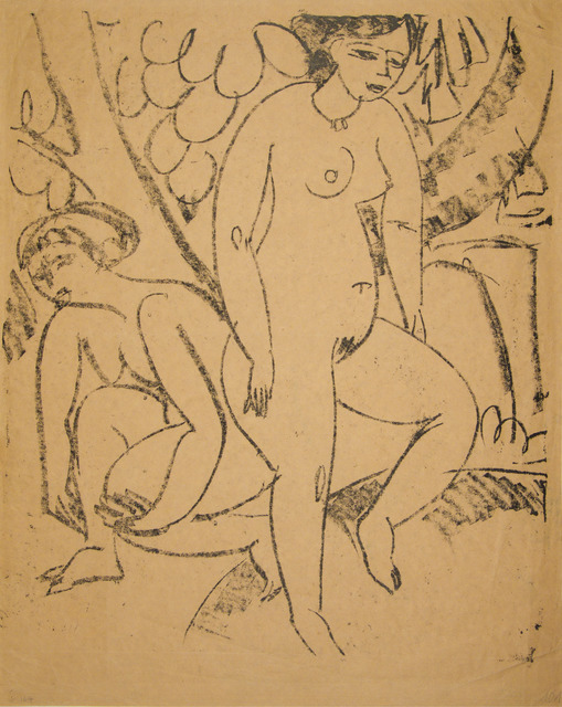 , 'Two Girls Bathing (Decorative Study),' 1911, Galerie St. Etienne