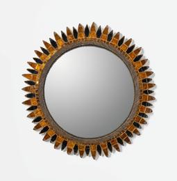 "Line Vautrin, '""Soleil à Pointes no. 4"" Mirror,' circa 1960, Sotheby's: Important Design"