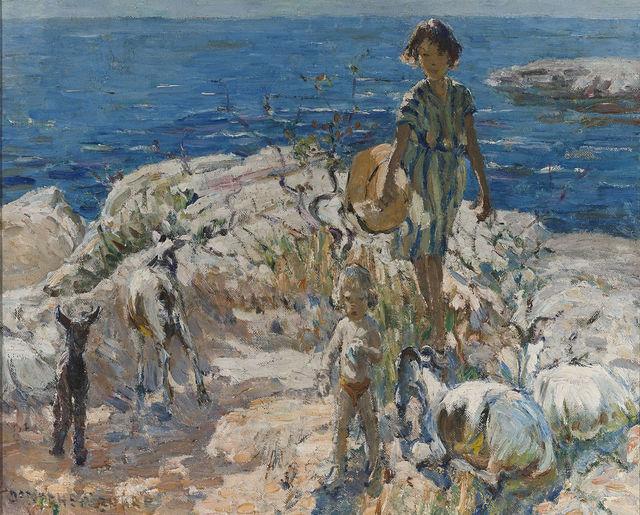 , 'A Summer Walk,' 20th Century, M.S. Rau Antiques