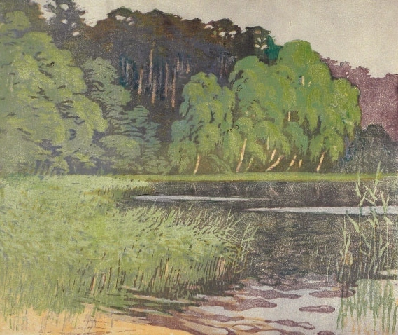 , 'Forest Lake,' ca. 1920s, Scholten Japanese Art