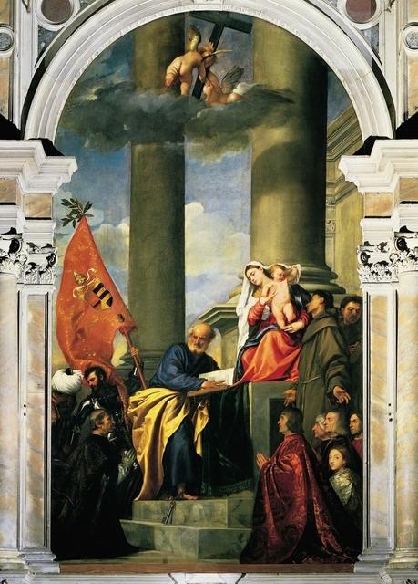Titian, 'Pesaro Madonna', 1519-1526, Art History 101