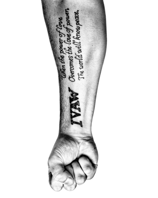 , 'SERVICE: The arm of Adam Kokesh, an outspoken member of Iraqi Veterans Against the War. Philadelphia.,' 2008, Milk Gallery
