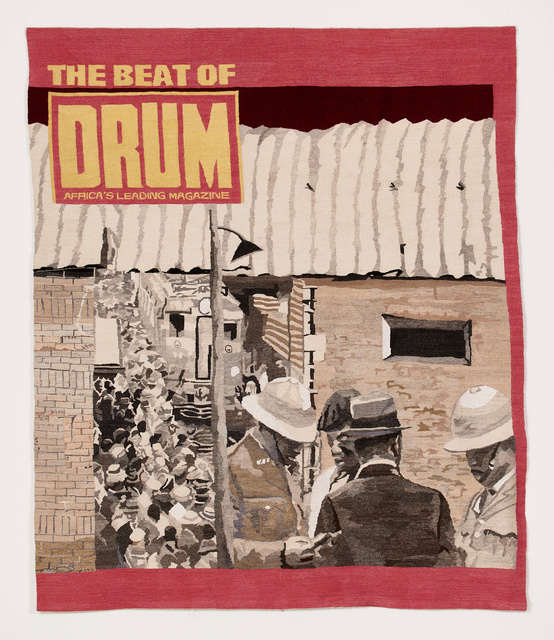 Sam Nhlengethwa, 'Near the Station (Drum)', 2016, Textile Arts, Woven mohair tapestry, Goodman Gallery