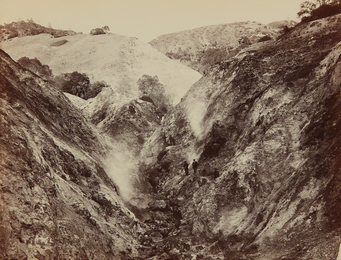 Carleton E. Watkins, 'Devils Canyon, Geysers, Looking Up,' ca. 1868-1870, Phillips: The Odyssey of Collecting
