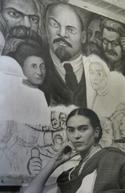 , 'Frida in front of the unfinished Unity Panel,' 1933, PDNB Gallery