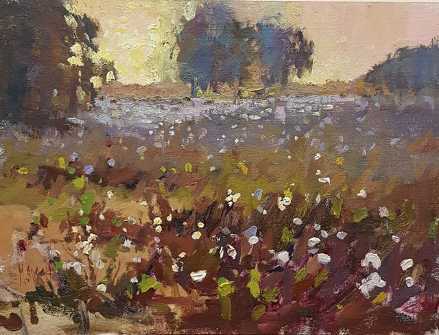Millie Gosch, 'Cotton Field Morning', 2018, Painting, Oil on Panel, Anne Neilson Fine Art