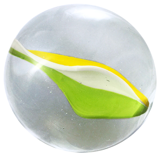 , 'Glass marble Nr. 51 Bright Green, Canary Yellow, Opalin,' 2016, OSME Gallery